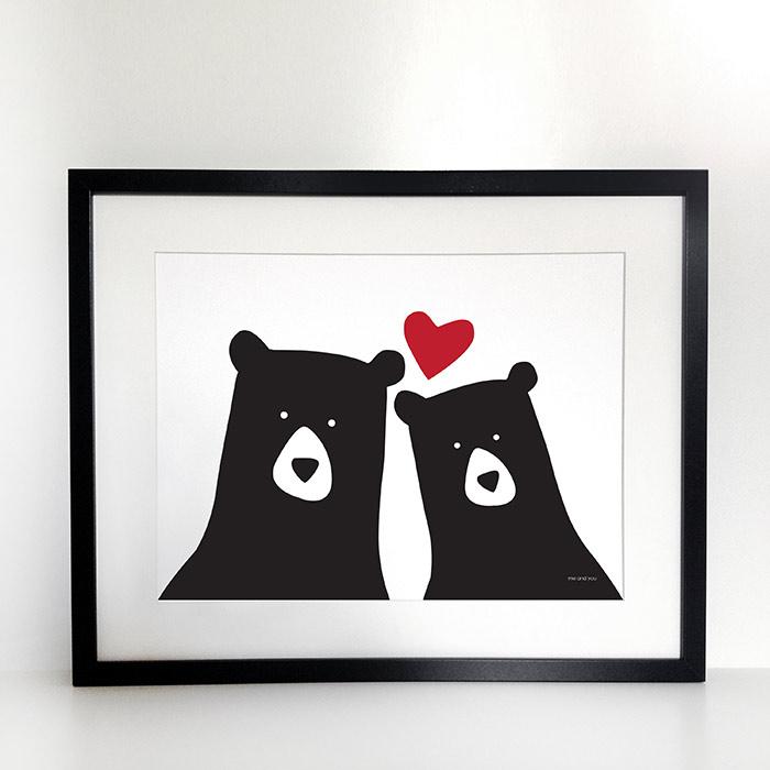 Bear Art Print - Heather Alstead Design (£25)