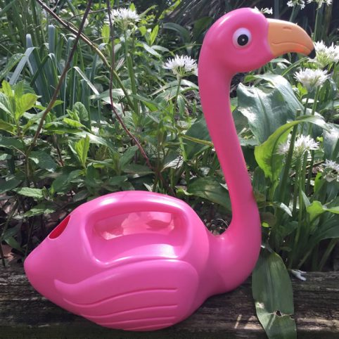 Pink Flamingo Watering Can, buy online for £9.50, free UK delivery