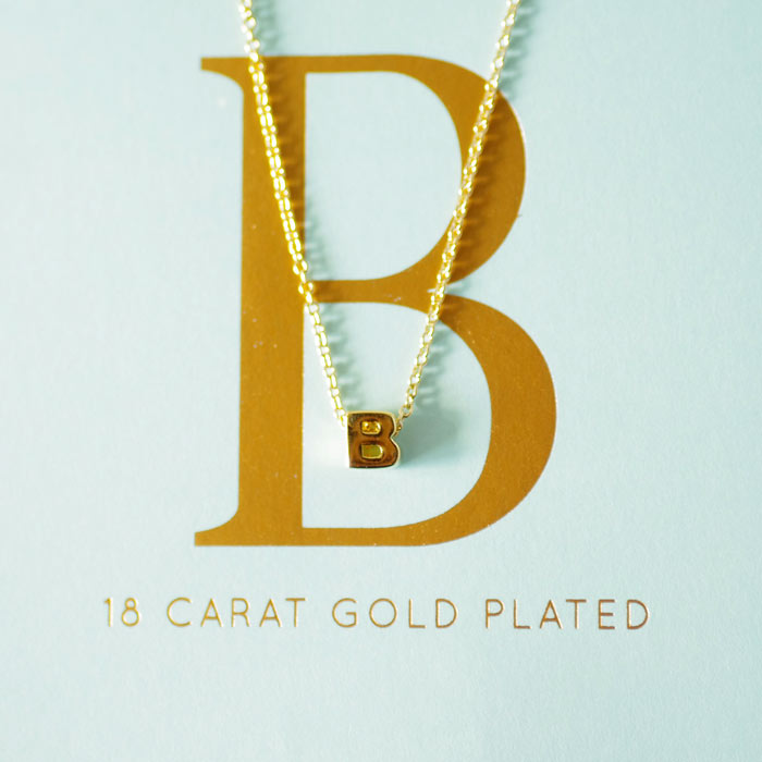 Initial Letters Necklace - Letter B