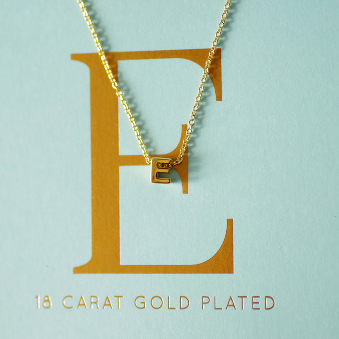 Initial Necklace - Letter E Buy Now with Free UK Delivery