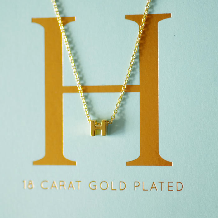 Gold Plated Letter Necklaces
