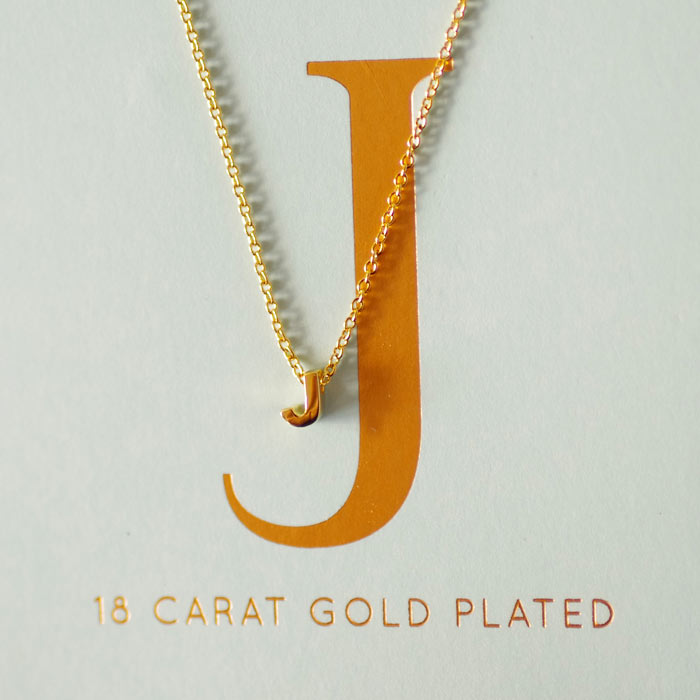 Initial Necklaces - Letter J Buy Now UK