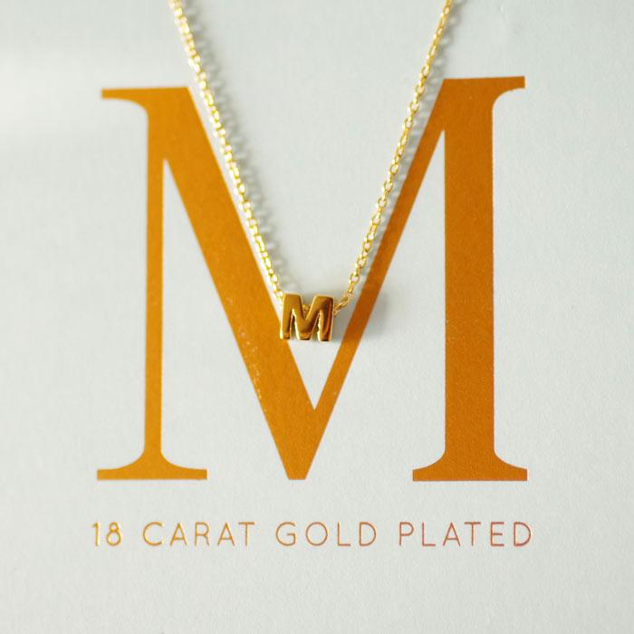 Alphabet Necklace - Letter M Buy Online UK