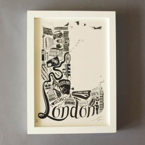London Print by Lucy Loves This -£22.50 & Free UK Delivery