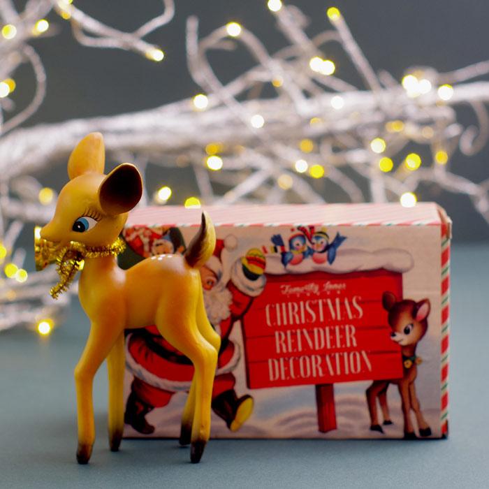 Retro Deer Christmas Decoration Packaging by Temerity Jones £6.50 Buy Online