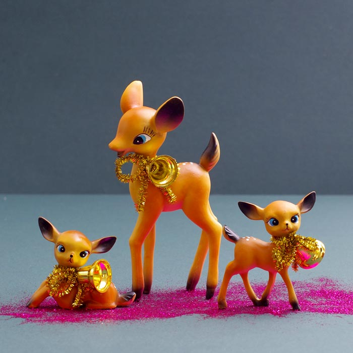 Retro Deer Family Christmas Decoration Temerity Jones £16.50 Buy Online free p&p