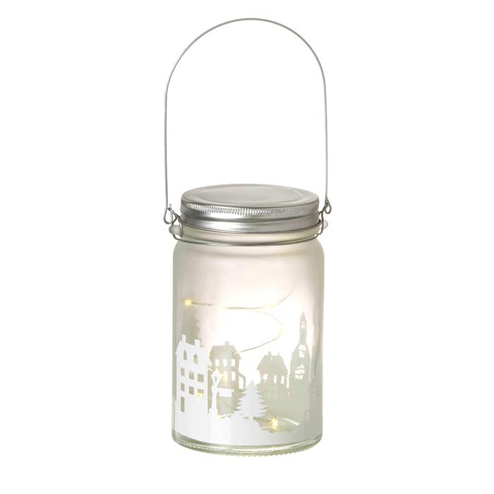 Xmas Jam Jar Light with LED lights