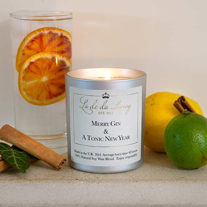 Gin Christmas La de da Candle by La De Da Living brought to you this Christmas by Source. Buy Online Now