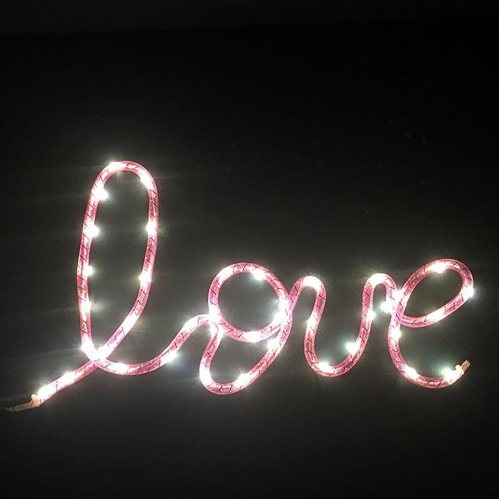 Love Illuminated Sign - Buy Online UK