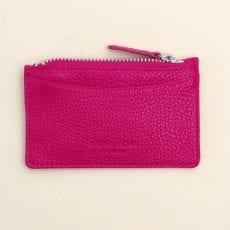Fuchsia Leather Key Pouch - Buy Online UK