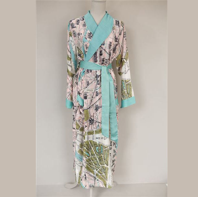 Paris Map Dressing Gown - Buy Online UK