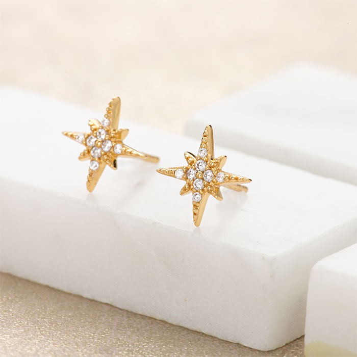 Starburst earrings by Pretty Scream gold