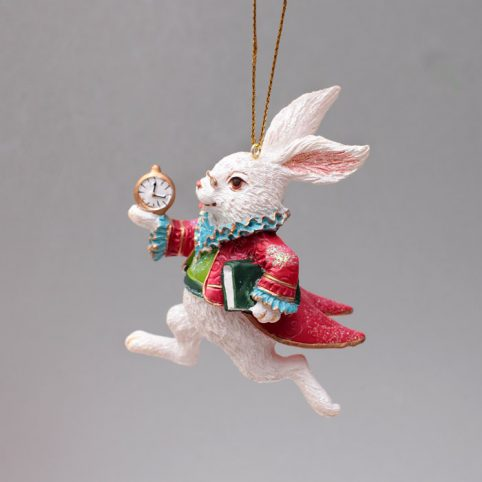 Alice In Wonderland Christmas Ornaments - White Rabbit
