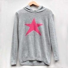 Pink Star Jumper with Hoodie