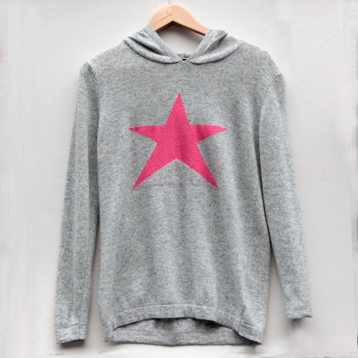 Star Jumper Grey with Hoodie
