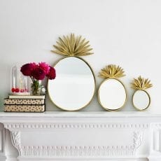 Set of 3 Pineapple Mirrors - Free UK Delivery plus 10% off when you sign up
