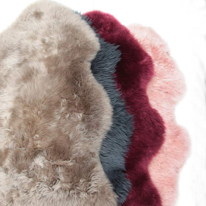 Pink Sheepskin Rug - More Assorted Colour on our website