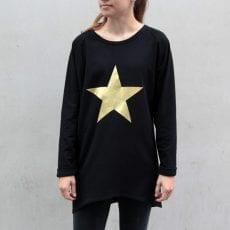 Gold Metallic Star Jumper - Buy Online UK Free P&P