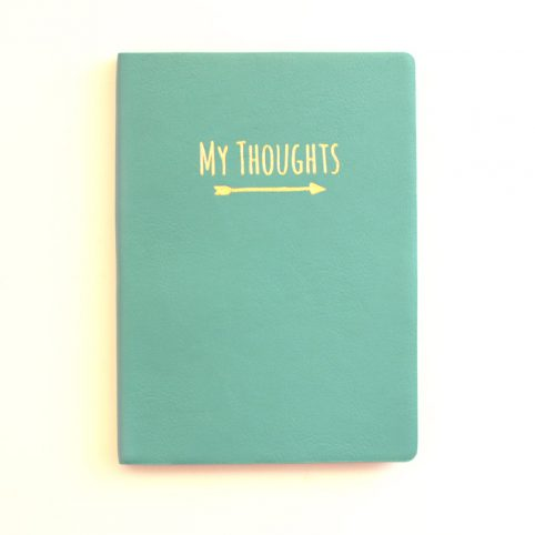 My Thoughts Notebook - Green Cover Notebook