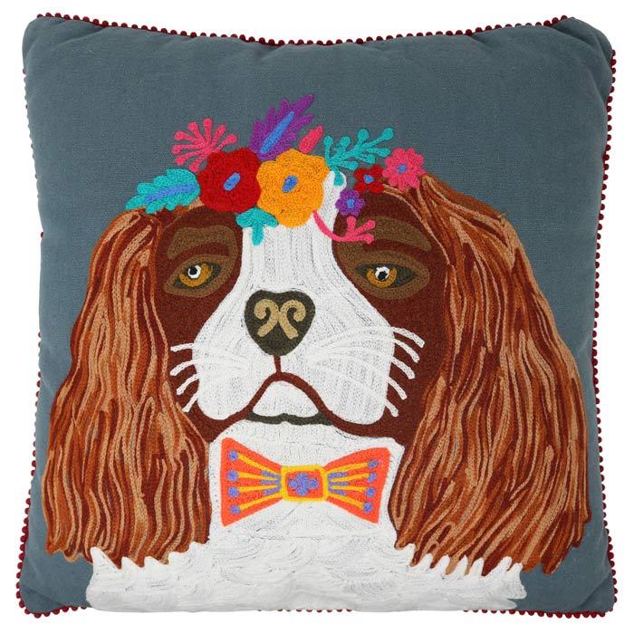 Floral-King-Charles-Spaniel-Cushion_Web