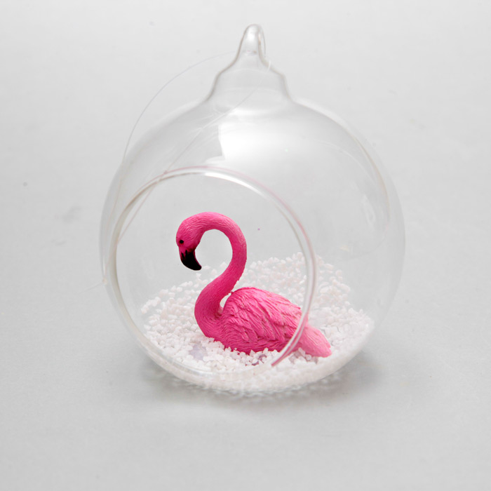 flamingo christmas decorations from sass belle flamingo christmas decorations flamingo bauble buy online uk