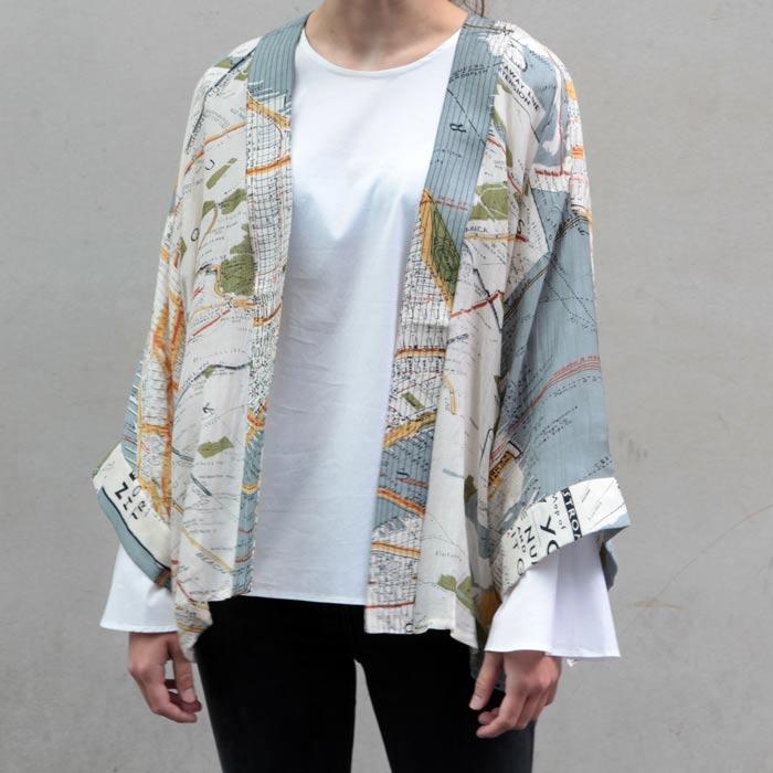 New York Map Kimono - Free UK Delivery