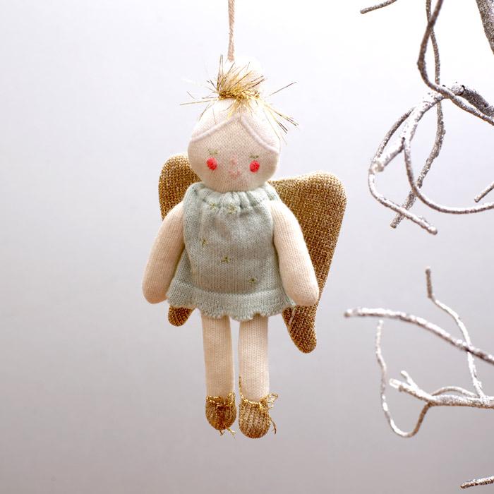 Knitted Tree Decoration – Angel from Meri Meri