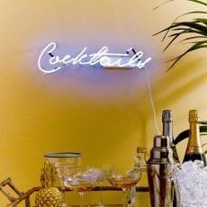 Cocktails Neon Sign - £50.50 Buy Online UK