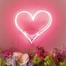 Pink Heart Light from Talking Tables Special Offer