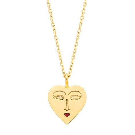 Gold Heart Face Necklace From Estella Bartlett - Buy Online UK
