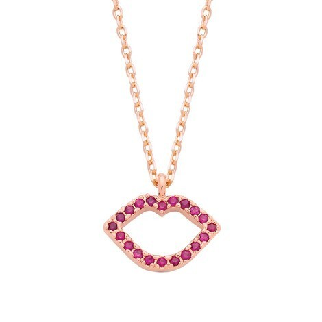 Estella Bartlett Lips Necklace - Free UK Delivery