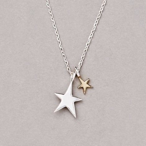 Estella Bartlett Double Star Necklace