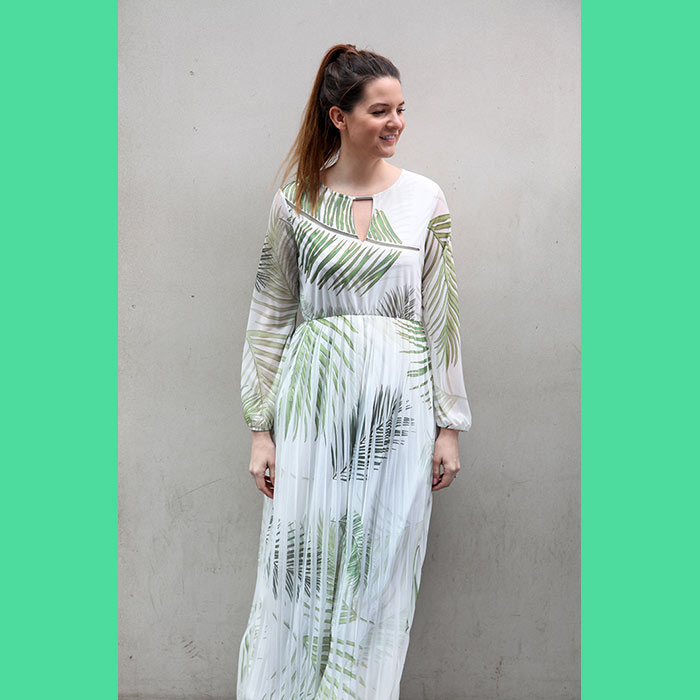 Great Plains Dress with Palm Leaves