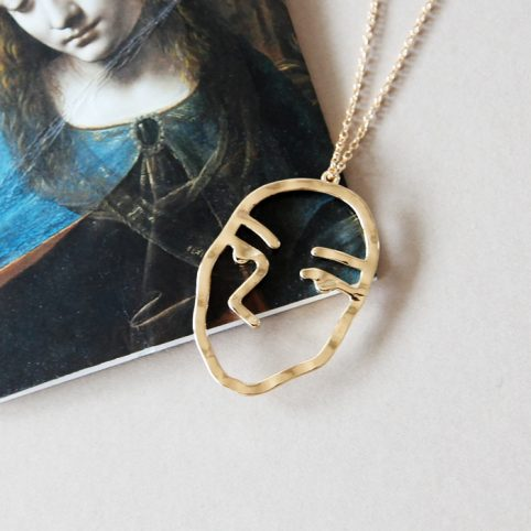 Abstract Face Necklace - £12.50 Buy Online UK