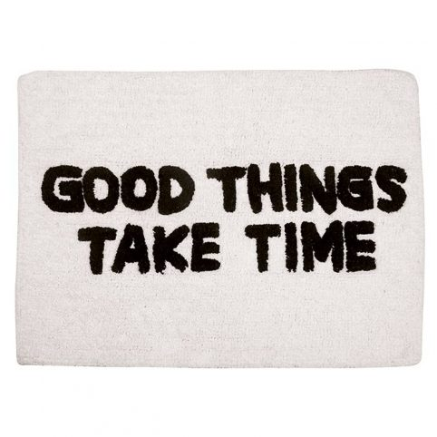 Quote Bath Mat - Good Things Take Time