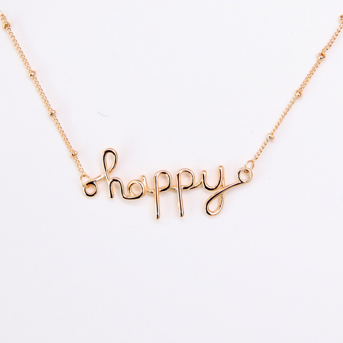 Happy Necklace - Big Metal London