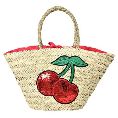 Summer Cherry Straw Bag - Free UK Delivery