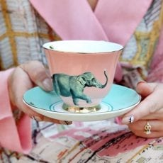 Yvonne Ellen Elephant Cup and Saucer - Buy Online UK