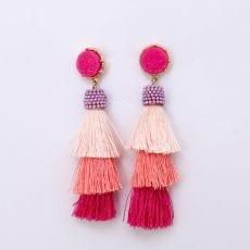 Pink Tassel Earrings - Buy Online UK