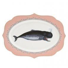 Cute Whale Platter by Yvonne Ellen