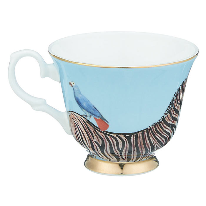 Yvonne Ellen Cup and Saucer - zebra Design Buy Online UK