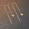 Gold Star Burst Threaded Earrings Buy Online UK