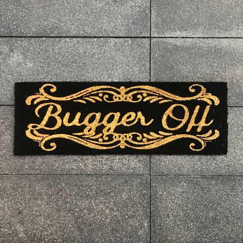 Bugger Off Door Mat Sourcelifestyle