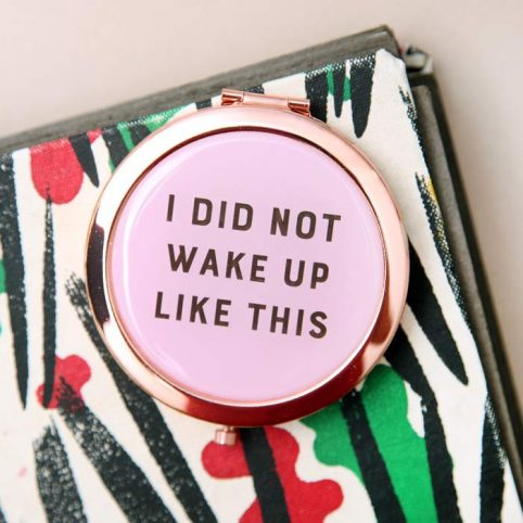 Pink Compact Mirror - Free UK Delivery
