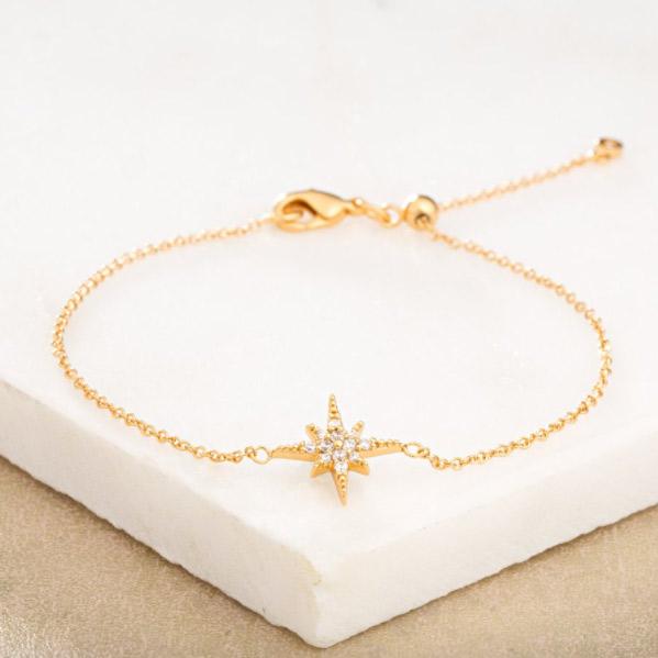Gold Star Burst Bracelet - Buy Online UK