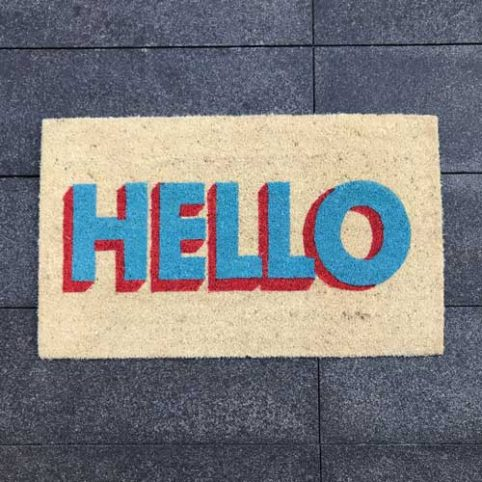 Hello Door Mat - Buy Online UK