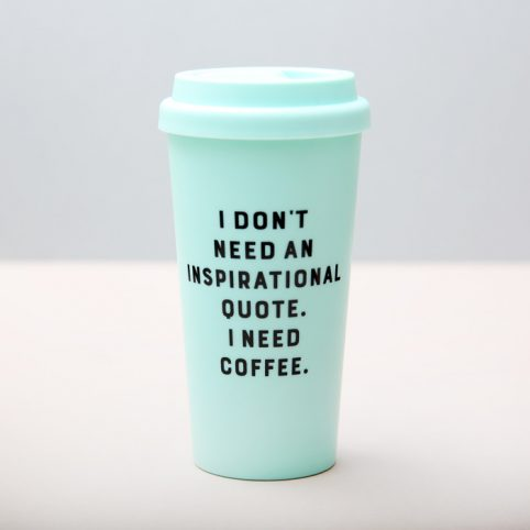I Need Coffee Eco Cup - Wild and Wold Free UK Delivery