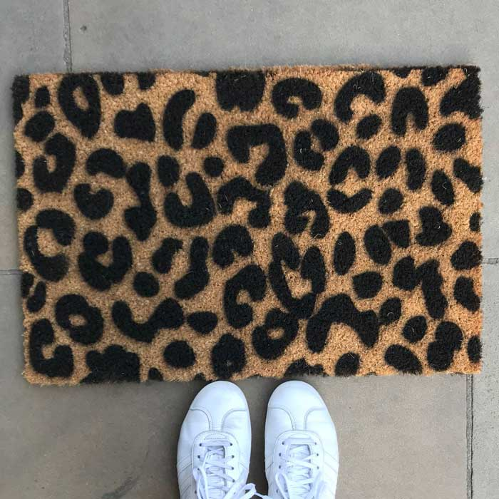 Leopard Print Doormat - Free UK Delivery