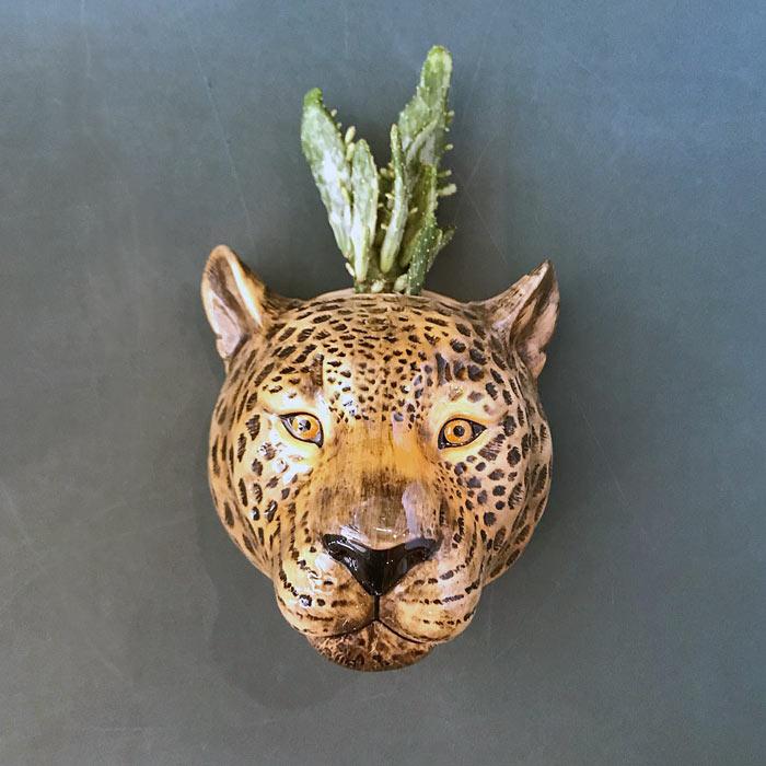 Leopard Wall Vase - Buy Online UK