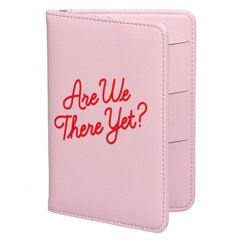 Pink Passport Cover - Are We There Yet